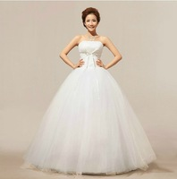 Newest Arrival Simple And Sweet Elegant Sweet Princess Bride Ball Gown Floor-Length Wedding Dress