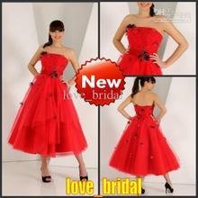 popular red bridesmaid dress