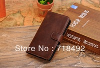 New Deluxe Leather Flip Wallet Case Cover for Samsung Galaxy Note 3 III N9000 + Protection Film