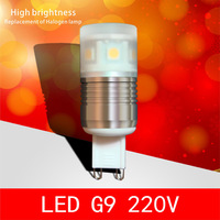 Ledg9 220v g9 crystal lamp 2w 3w g4 light beads led g4 light beads g9 led g4 lamp