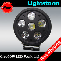 60W 12V 5000LM cree led working light off road boat bus heavy vehicle lighting Energy Saving long life span free shipping by EMS