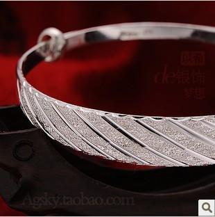 gift silver bracelet 999 pure silver women's silver bracelet silver jewelry pure