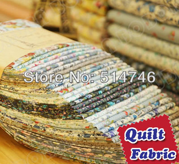 "15 Assorted Pre Cut Charm DIY Cotton Fabric Quilt Scrap Quaters ""Blue"" Promotion + Free Shipping 17.7""x19.7"" 45cmx50cm"
