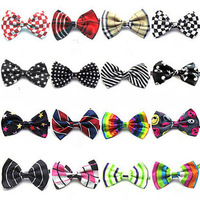 child bow tie baby girl bow tie small for dress suit free shipping 10pcs/lot bib with tie cute jacquard Children Ties