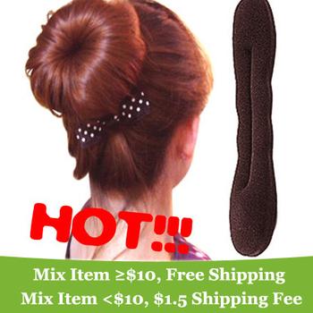 Sponge hair band Bun Clip Maker Former Foam Twist Hair Salon Tool   !  ---Crystal shop