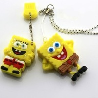 FREE SHIPPING ! SpongeBob Real 2GB 4GB 8GB 16GB 32GB Cartoon USB 2.0 Flash Pen Drive Disk !