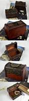 Vintage Jewelry Pearl Necklace Bracelet Storage Organizer Wood Case Gift Box 02