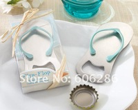 200pcs/lot Beach Wedding gift Flip Flop Metal bottle opener Slipper Wine Opener Festive & Party Supplies