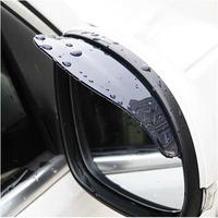 Universal Flexible PVC Car Rearview Mirror Rain Shade Rainproof Blades car back mirror eyebrow rain cover waterproof 2Pcs UAP02