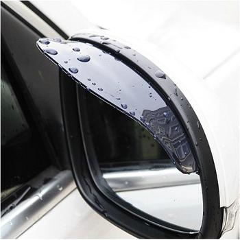 Universal Flexible PVC Car Rearview Mirror Rain Shade Rainproof Blades car back mirror eyebrow rain cover waterproof 2Pcs UAP02(China (Mainland))