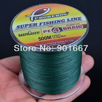 500M fly fishing line Dark Green Colors Dyneema Fishing Line available 28LB-100LB dyneema line fishing tackle Free Shipping