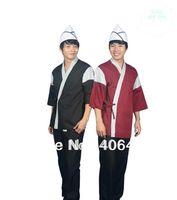 Japanese style chef uniform Spring and summer Short sleeve v-neck Japanese Sushi Bar clothes Japanese cuisine Waiter  Jacket D09