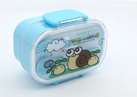 Free Shipping Children Two-Layer Lunch Box with Spoon,Fork  Wholesale