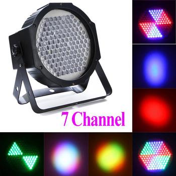 Professional 127 RGB LED Effect Light DMX512 7 Channel Par Lights AC 90-240V DMX-512 Stage Lighting for Disco DJ Party KTV