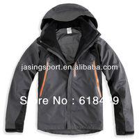 2013 Low price 3 in 1 Seams taped Professional waterproof garment for men Winter Coat -A006