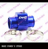32mm Water temp Sensor Adaptor Gauge Radiator Hose Adaptor blue