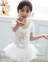 4 pcs wholesale Pink and white Children's ballet skirt,kid tutu dance dress,girls's dancing dress,baby skirt,kid skirt