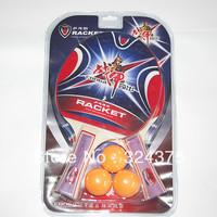 1 Pair/2 Pcs Ping Pong Table Tennis Racket Paddle Bat With Three Ping Pong Balls