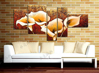 Free shipping!High Quality Modern Abstract Oil Painting on Canvas, 5 panel canvas art. NO.06