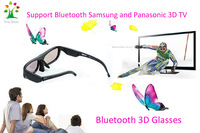Free Shipping +cheap price +Hight quality 3d Points Active Shutter Bluetooth 3D Glasses For Sumsung &Panasonic 3D TV