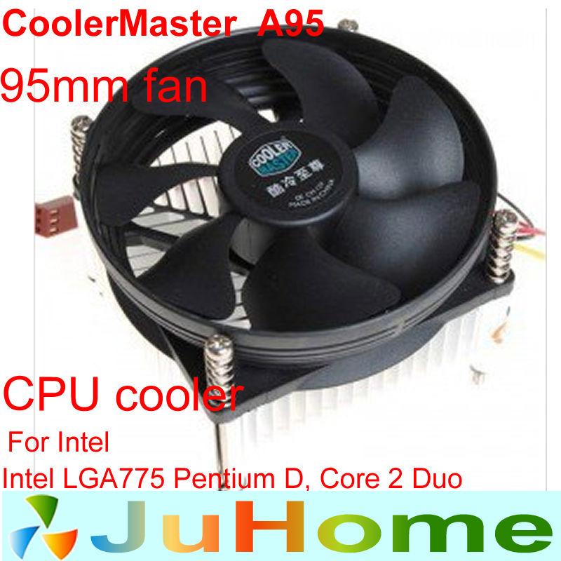 9cm fan INTEL LGA775, cpu radiator,cooling fan,CPU Fan CPU cooler CoolerMaster A95(China (Mainland))