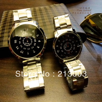 Steel strip lovers watch a pair of spermatagonial personality waterproof sheet mens watch