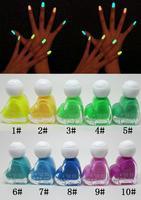 3pcs New 20 Color 6ml Fluorescent Neon Nail Art Polish Glow in Dark Nail Varnish free shopping