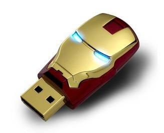 Iron Man Usb Fash Drive pen drive Usb Drive 2GB 4GB 8GB 16GB 32GB 64GB USB Memory Stick(China (Mainland))