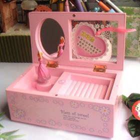 Brand New Fashion Design Colorful New year gift beautiful music box jewelry box pre piece sale