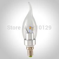 wholesale free shpping hight power 5pcs/lot 6LED 5630SMD 6W E14 LED candle bulb light 540LM 220V glass cover LED lighting