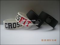 "CROSS FIT BRACELETS CrossFit Wristbands, Silicon Bracelet, 1"" Wide Band, 50pcs/lot, Free Shipping"