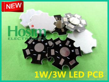 [Hosim] 100pcs/lot, 1W&3W High Power LED Aluminum Base Plate,  Circuit board, LED PCB, PCB1W&3W, wholesale, free shipping