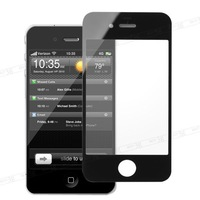 Wwholesale 5pcs/lot Black Replacement Touch Screen Front Glass for iPhone 4S  Free Shipping