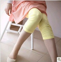 2014 Maternity capris summer stretch leggings cotton short for pregnant women  candy color maternity pants 1124