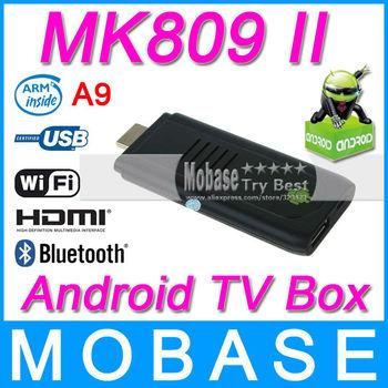 MK809 II Dual Core Android 4.1.1 TV Box Rockchip RK3066 Cortex A9 1.6GHz RAM 1GB ROM 8GB HDMI Wifi Bluetooth 3D USB Stick Dongle