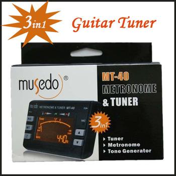 New Hot ! 10pcs/lot Electronic Digital 3 in 1 LCD Violin Guitar Metronome Tone Generator Tuner Freeshipping Dropshipping MT-40