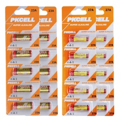 10Pcs (2 card) 27A and 10Pcs 23A 12V MN27 GP27A A27 L828 Alkaline Battery Free Shipping(China (Mainland))