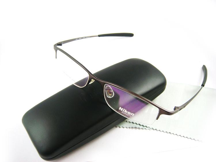 designer frames for glasses titanium semi rimless glass frames men