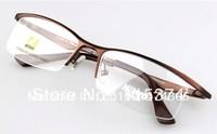 Free shipping 2013 Newl brand designer frames for glasses AV9880T titanium semi rimless glass frames men  Optical eyeglasses