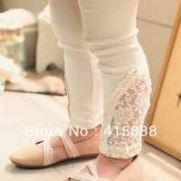 free shipping girls 3 color hollow lace leggings,5pcs/lot,GXS103