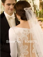 Bridal Wedding Crown Veil Pageant Twilight Tiara Made with Crystals