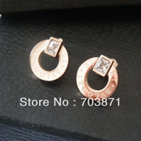 Free shipping SONLIN Factory price wholesale   titanium steel earrings  not allergic,Perfect design HE001
