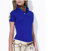 Free Shipping New 2013 Fashion Polo Woman short-sleeve Shirt Casual Women's Polo  Shirts Female short Sleeve Women Tee Polo1