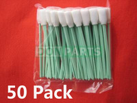 50 pack Clean Swab (Sponge stick) for Roland Mimaki Mutoh Large format Inkjet Printer  Epson Solvent DX4 DX5 PrintHead