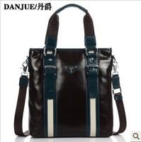 2013 fashion Chinese business men genuine leather bag for Male shoulder bag Danjue brand M8704-2