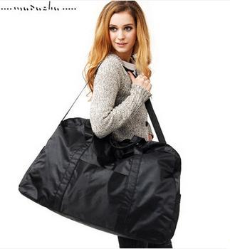 Free shipping, large capacity nylon waterproof travel bag luggage folding big bag 52*23*34cm