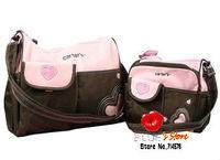 FREE SHIPPING Wholesale hot sale fashion 4pcs mummy bag sets  1 big diaper bag+ small pink heart carter baby bag