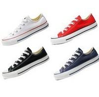 Free shipping hot sale classic unisex canvas shoes for women star sneakers low style sport shoes
