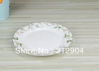 MIN ORDER $39 High quality bone china tableware plate bone china golden 8 salad plate