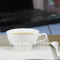 Free Shipping For Min Order $39 White Fashion Bone China Coffee Cup And Spoon/Coffee Sets/Coffee mugs